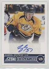 2013 Score Signatures SS-GB Gabriel Bourque Nashville Predators Auto Hockey Card