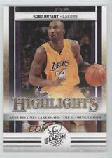2009-10 Panini Season Update Silver #1 Kobe Bryant Los Angeles Lakers Card