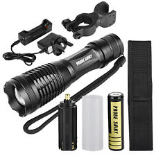 5000LM XM-L T6 LED Tactical Zoomable Flashlight Torch Light Lamp+18650 + Charger