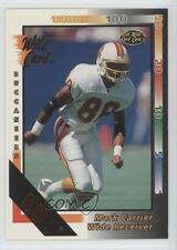 1992 Wild Card 50 Stripe #43 Mark Carrier Tampa Bay Buccaneers Football