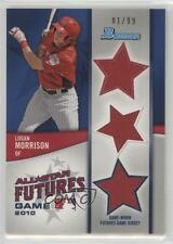 2011 Bowman Future's Game Triple Relics #FGTR-LM Logan Morrison Miami Marlins