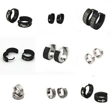 1 Pair Mens Womens Stainless Steel Hoop Huggie Ear Studs Earring Fashion Jewelry