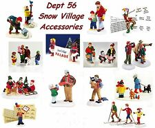 Dept 56 Snow Village Accessories - Each Sold Separately Many Choices NIB Grp 2