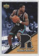 2004 Upper Deck Rookie Review Jerseys RR-DJ Dahntay Jones Memphis Grizzlies Card