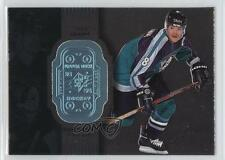1998-99 SPx Finite 1 Teemu Selanne Anaheim Ducks (Mighty of Anaheim) Hockey Card