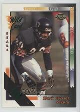 1992 Wild Card 10 Stripe #142 Mark Carrier Chicago Bears Tampa Bay Buccaneers