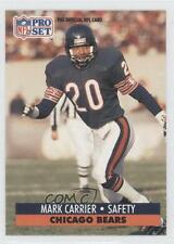 1991 Pro Set #101 Mark A Carrier Chicago Bears A. Football Card