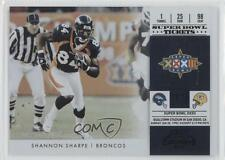 2011 Playoff Contenders Super Bowl Tickets Black 16 Shannon Sharpe Football Card