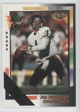 1992 Wild Card 10 Stripe #144 Jim Harbaugh Chicago Bears Football