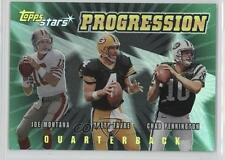 2000 Topps Stars Progression #P1 Brett Favre Joe Montana Chad Pennington Card