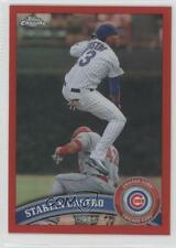 2011 Topps Chrome Red Refractor #17 Starlin Castro Chicago Cubs Baseball Card