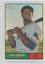 2010 Topps Heritage Chrome Refractor #C84 Julio Borbon Texas Rangers Card