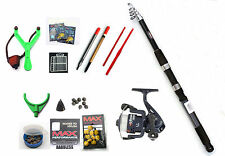 Mitchell Telescopic Float fishing package Rod,Reel,floats,shot,line,catapult