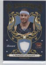 2009-10 Crown Royale Royalty Materials #4 Carmelo Anthony Denver Nuggets Card