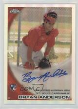 2010 Topps Chrome Rookie Autographs Refractor #172 Bryan Anderson Auto Card