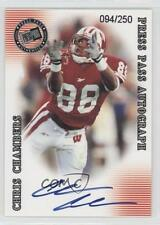 2001 Press Pass SE Autographs Silver #CHCH Chris Chambers Wisconsin Badgers Auto