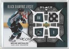 2007 Upper Deck Black Diamond Jerseys BDJ-MM Milan Michalek San Jose Sharks Card
