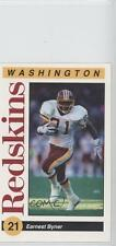 1991 Mobil Washington Redskins Police #21 Earnest Byner Football Card