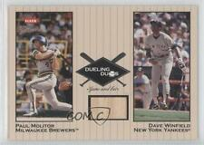 2002 Fleer Greats #DD-DW1 Dave Winfield Paul Molitor New York Yankees Card