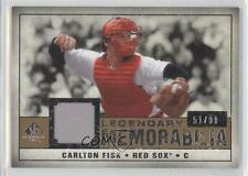 2008 SP Legendary Cuts Memorabilia #LM-CF Carlton Fisk Boston Red Sox Card