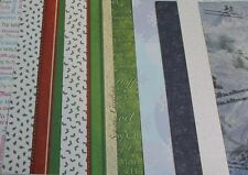 """5 Sheets of CHRISTMAS Scrapbook Papers 12""""x12"""" * Brand New Choice of Designs"""