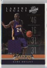 2009 Panini Season Update Lakers Legacy Materials Memorabilia 1 Kobe Bryant Card