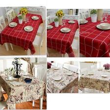 British Style Tablecloth Retro Floral/Plaid Print Table Cover Home Decoration