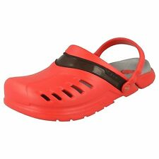 MEN'S CROCS RED/BLACK CLOG SANDAL/MULES PREPAIR CLOG