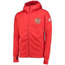 adidas Mens Gents Football Soccer Russia ZNE Anthem Jacket Top - Red