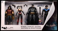 "2014 DC COLLECTIBLES BATMAN ARKHAM CITY 4-PACK 6"" HARLEY QUINN ROBIN FIGURES MIB"