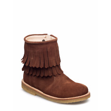 Angulus Girls Brown Suede Boots With Tassels | RRP £106 | New Season