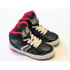 Geox Boys Navy Leather Chunky High Top Trainers   RRP £49.99