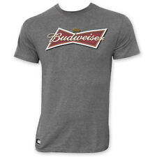 Budweiser Men's Bow Tie Logo Pop Top T-Shirt Gray
