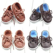 Infants Baby Girl Boy PU Leather Crib Shoes Toddler Kid Soft Sole Antiskid Boots