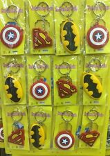 Lot mixed cartoon PVC Key Chains Metal Double Side Rubber Key Ring O407