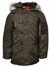 Boys BROWN Faux Fur Lined Snorkel Hooded Coat Parka Anorak 3 to 11 Years