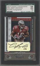 2005 Playoff Contenders #150 Rookie Ticket Larry Brackins SGC 98 Auto Card