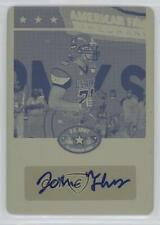 2012 Leaf US Army All-American Bowl Printing Plate Yellow BA-JT1 John Theus Auto