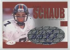 2004 SAGE Autographs Red A38 Matt Schaub Atlanta Falcons Virginia Cavaliers Auto