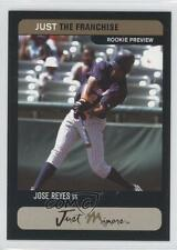 2002 Just Minors the Franchise Rookie Preview Prototypes Black #JORE Jose Reyes