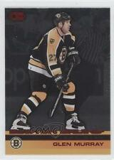 2002 Pacific Heads Up Red Non-Numbered #8 Glen Murray Boston Bruins Hockey Card