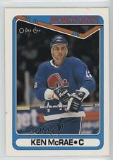 1990-91 O-Pee-Chee #411 Ken McRae Quebec Nordiques RC Rookie Hockey Card