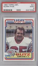 1984 Topps USFL #21 Glenn Hyde PSA 9 Chicago Bears Blitz (USFL) Football Card