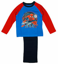Boys Ultimate Spiderman NYC Spidey Crime Fighter Cotton Pyjamas 4 to 10 Years