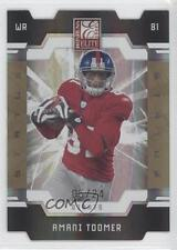 2009 Donruss Elite Status Gold Die-Cut #64 Amani Toomer New York Giants Card