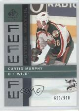 2002-03 SP Authentic #177 Curtis Murphy Minnesota Wild RC Rookie Hockey Card