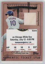 2009 Topps Ticket To Stardom Stubs Plus Memorabilia #TSP-8 Michael Young Card