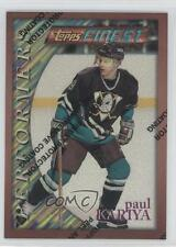 1995-96 Topps Finest Refractor 189 Paul Kariya Anaheim Ducks (Mighty of Anaheim)