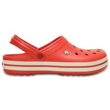 Crocs Crocband Clogs - Flame / White - Croslite