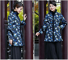 Junoesque Chinese Women's Winter Cotton Jacket/Coat Cheongsam Blue Sz M - 3XL